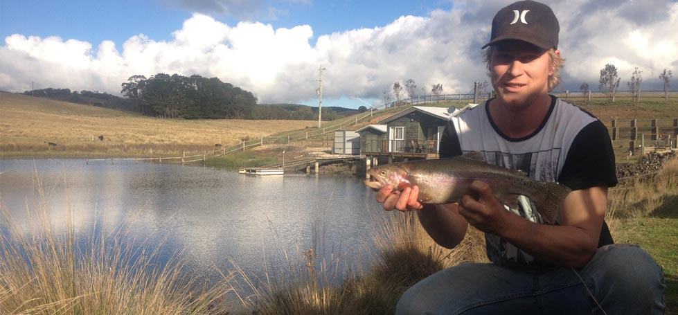 Dam stocked with rainbow trout and yabbies